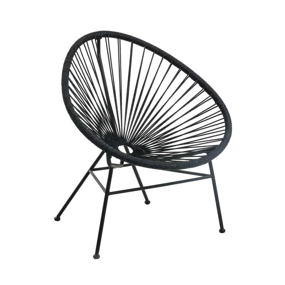 Sessel aus Kordel Geflecht und Stahl Retrostil (2er Set)