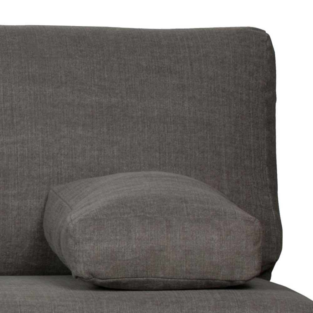 Zweisitzer Sofa in Anthrazit Webstoff Federkern