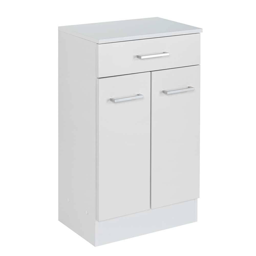 Weiße Kommode für Badezimmer 50 cm breit