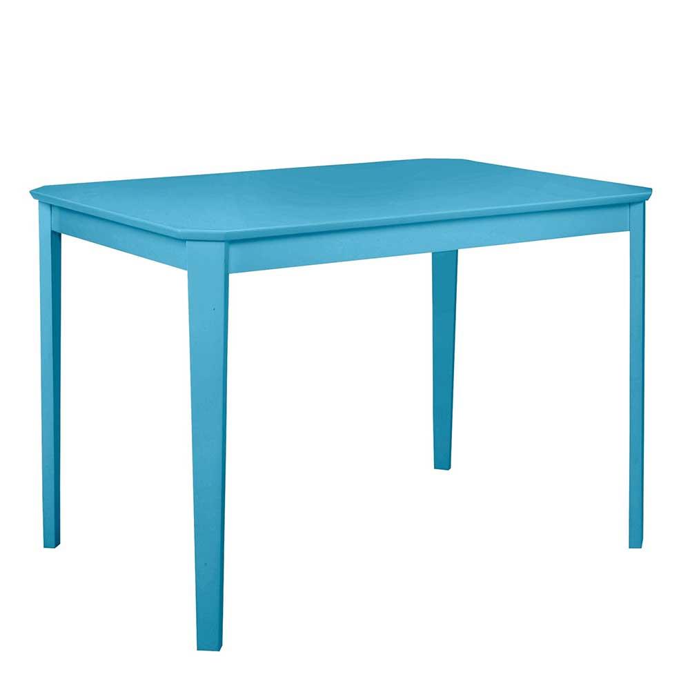 Esstisch in Blau 110 cm breit