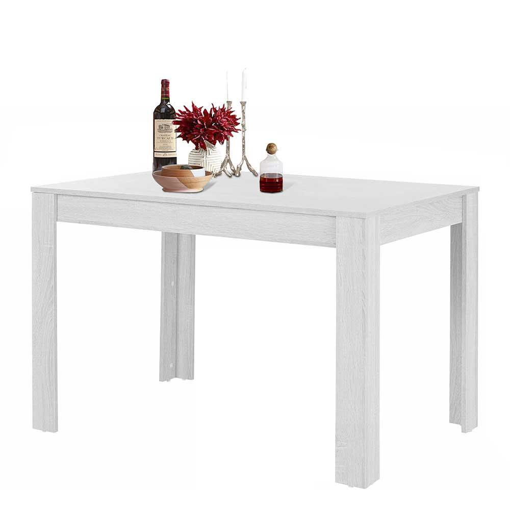 Esstisch in Weiß 80 cm tief