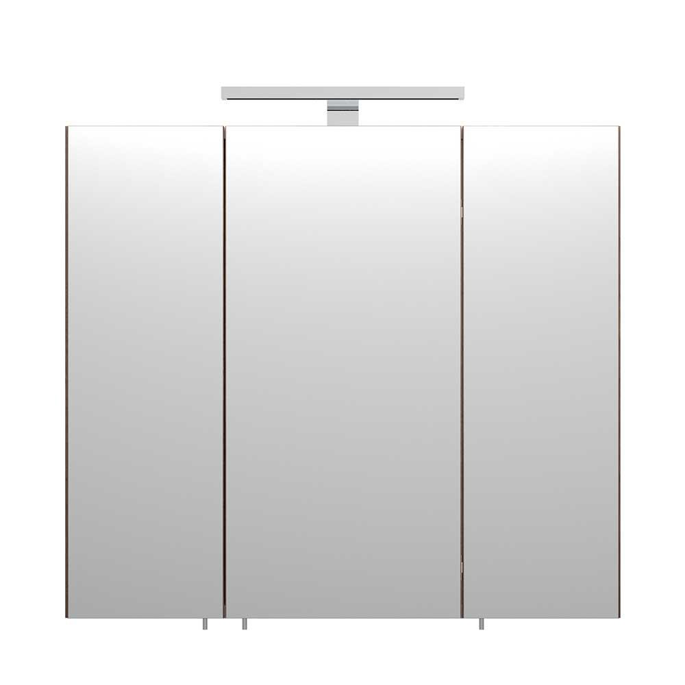 Badezimmer Spiegelschrank in Walnussfarben Steckdose | Baumarkt > Elektroinstallation > Steckdosen | Möbel4Life