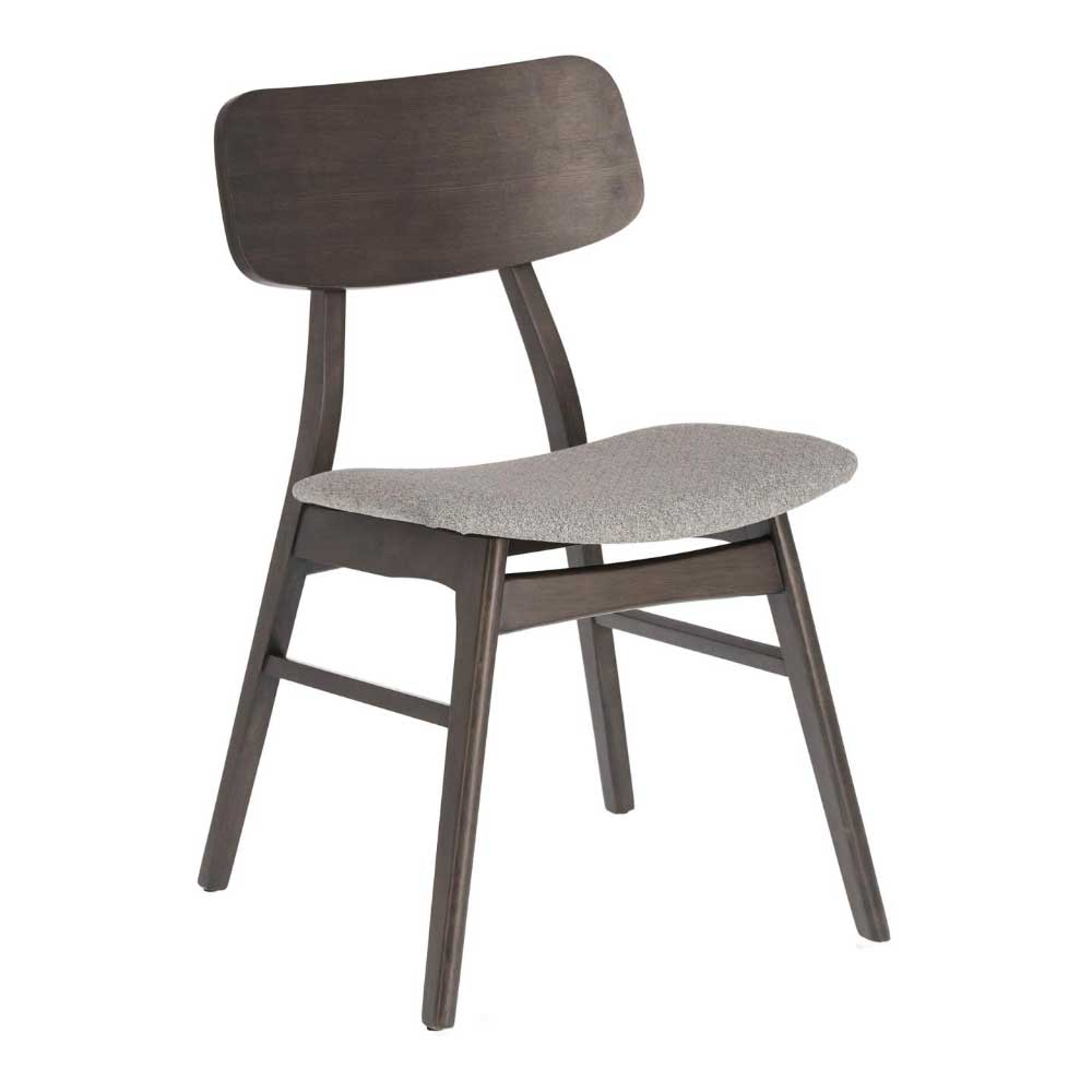 Esstisch Stühle in Grau und Schwarz Skandi Design (2er Set)