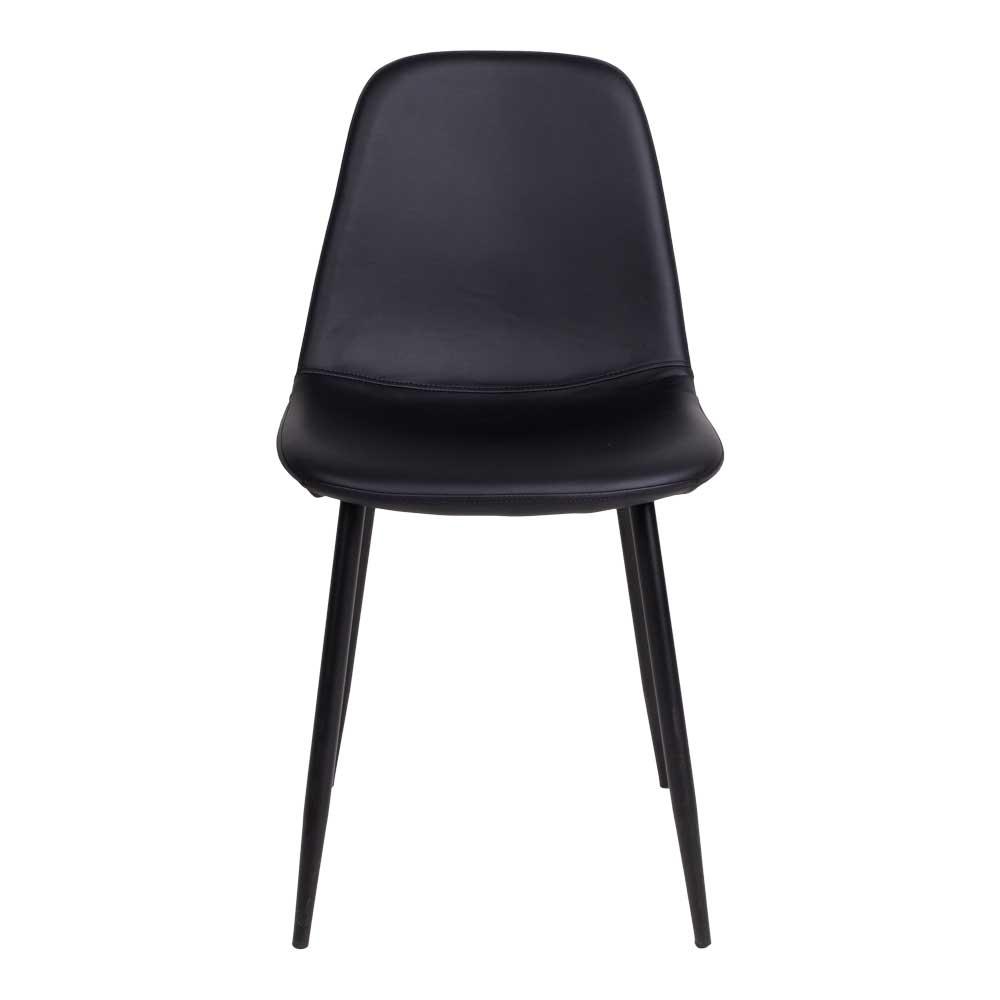 Esstisch Stühle in Schwarz Kunstleder modern (2er Set)
