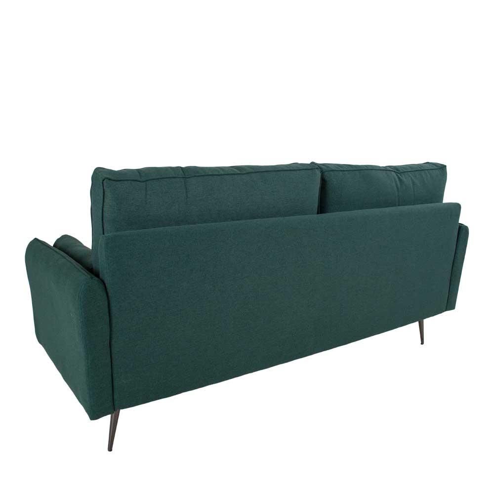 Zweisitzer Sofa in Dunkelgrün Webstoff 175 cm breit