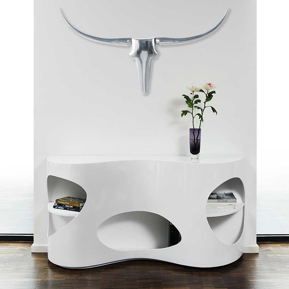 Hochglanz Sideboard in Weiß ausgefallenen Design