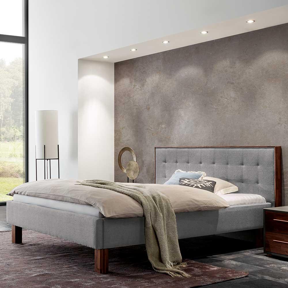 Stoffbett in Grau 160×200 cm