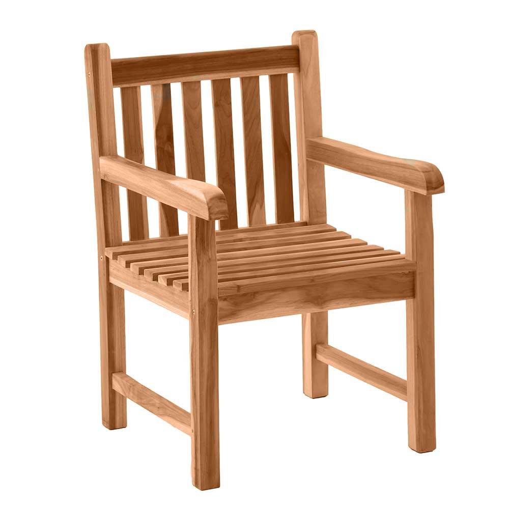 Balkonstuhl aus Teak Massivholz Armlehnen | Garten > Balkon > Balkonstühle | iMöbel