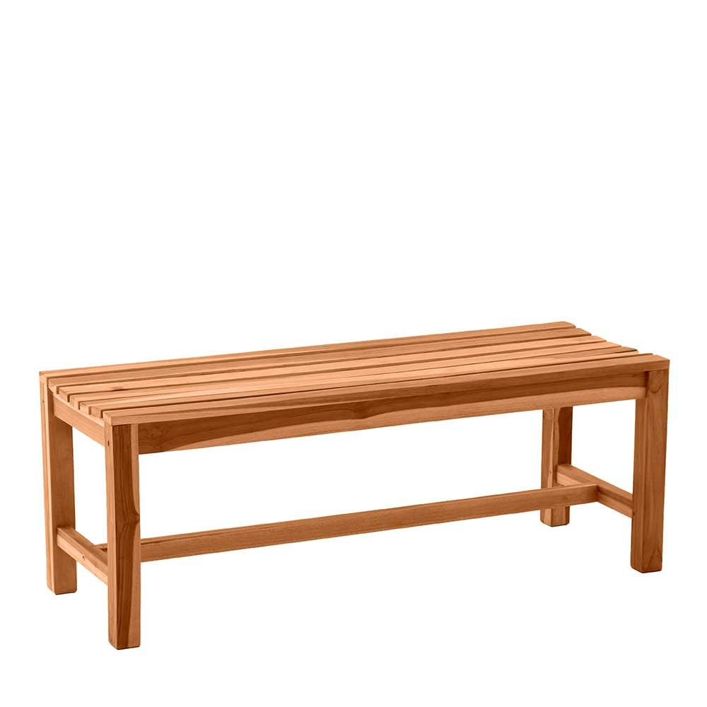 Gartensitzbank aus Teak Massivholz Rückenlehne | Garten > Gartenmöbel > Gartenbänke | iMöbel
