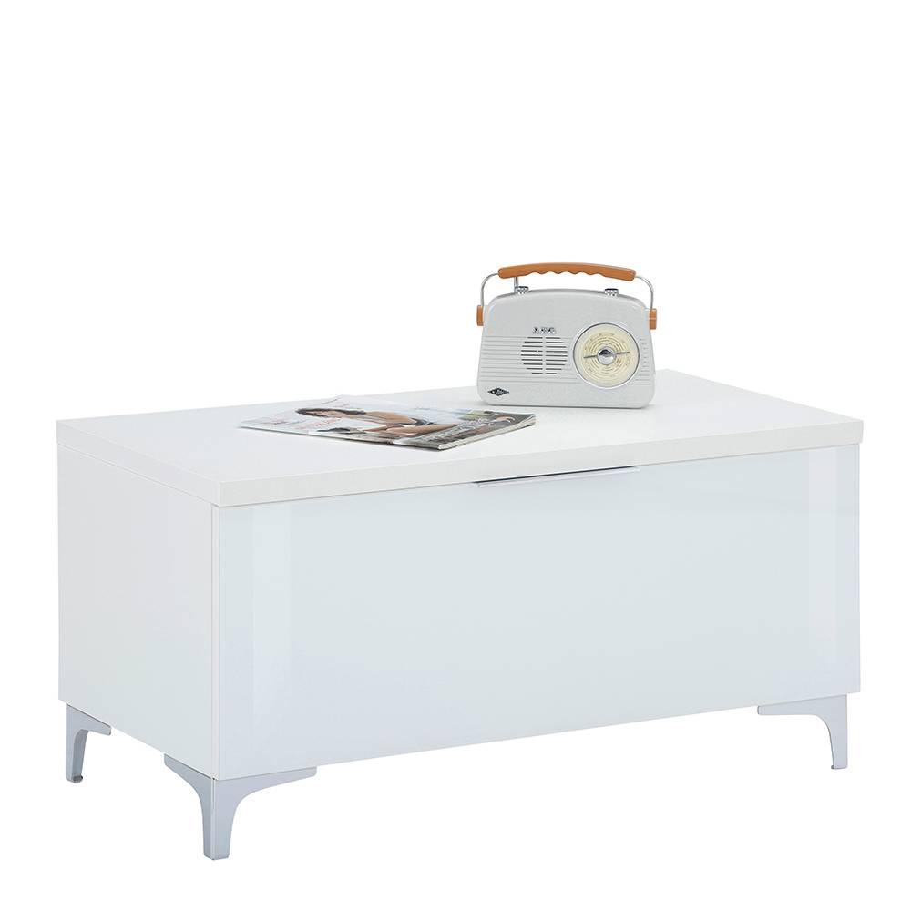 TV Möbel in Weiß Klappe