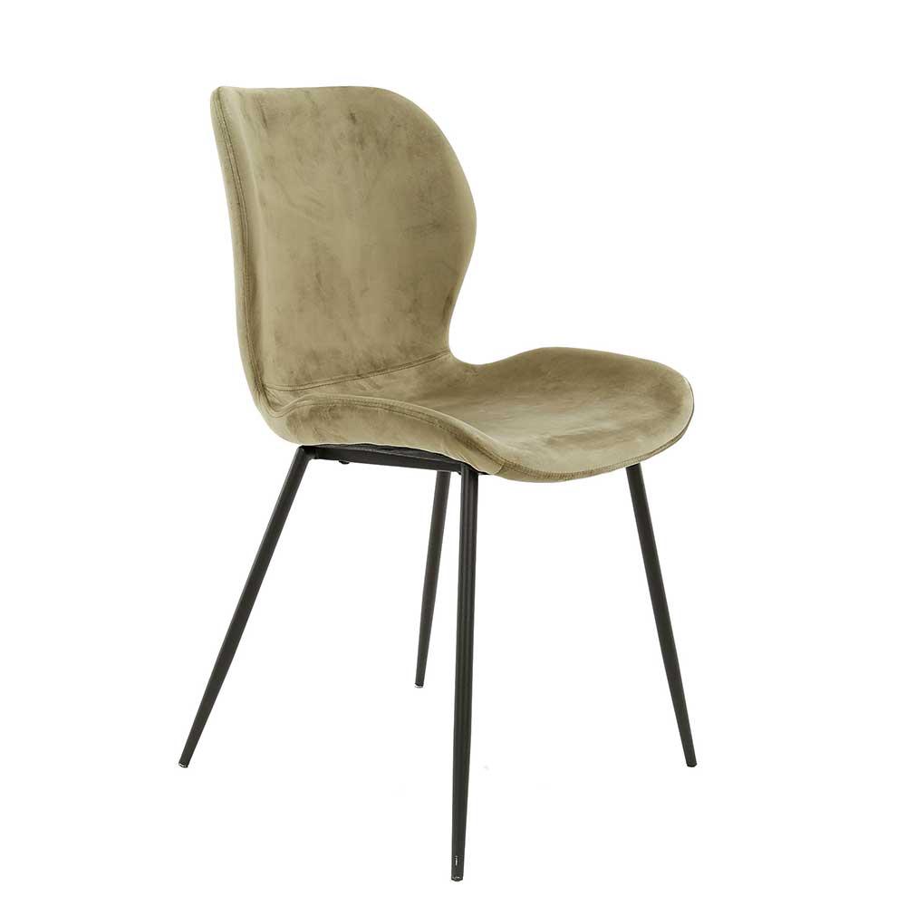 Esstisch Stühle in Beige Samt 45 cm Sitzhöhe (4er Set)