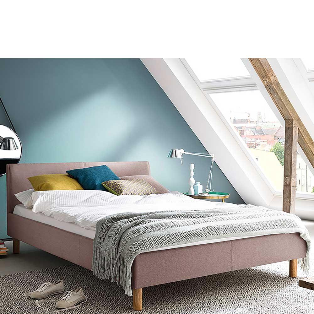 Stoffbett in Altrosa Skandi Design