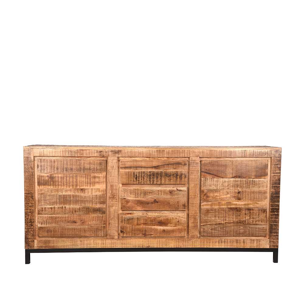 Massivholz Sideboard aus Mangobaum geölt 190 cm breit