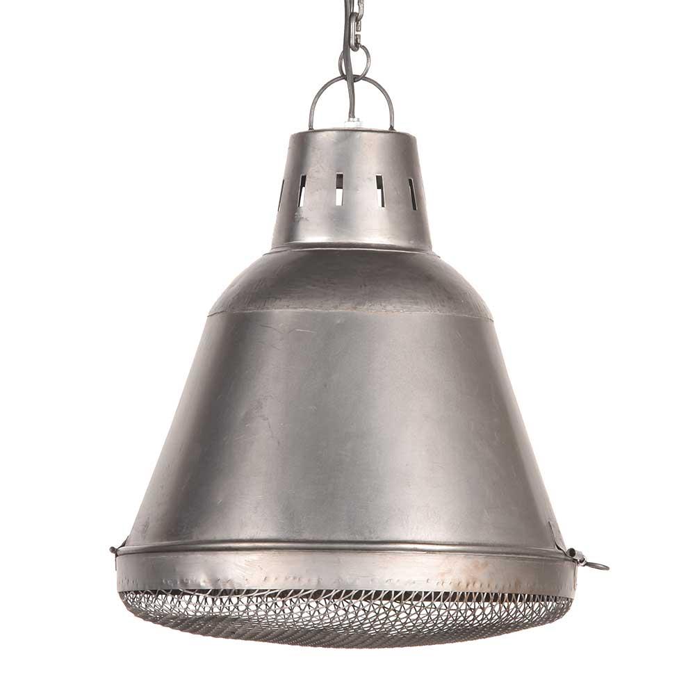 Metall Pendelleuchte in Grau 45 cm hoch