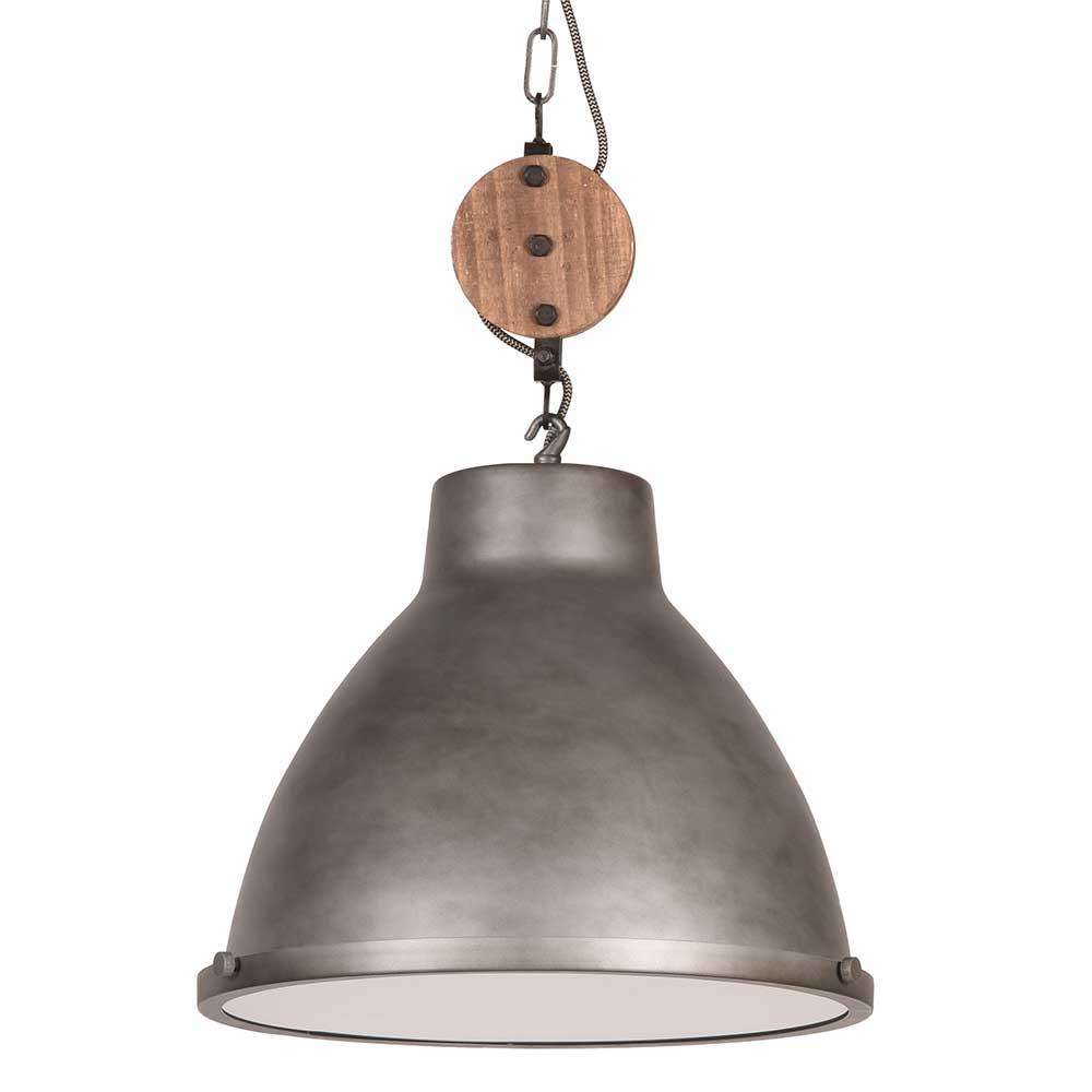 Metall Hängeleuchte in Grau Industriedesign