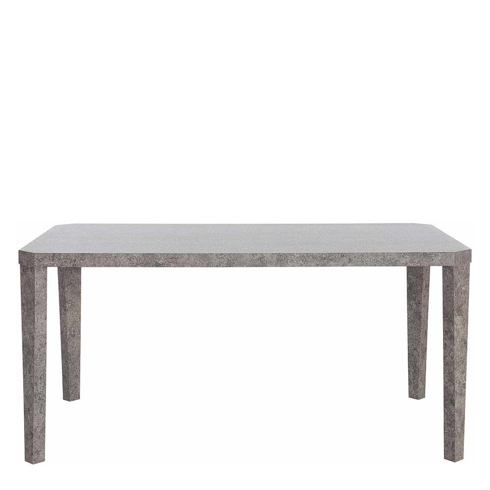 Esstisch in Beton Grau 160 cm breit