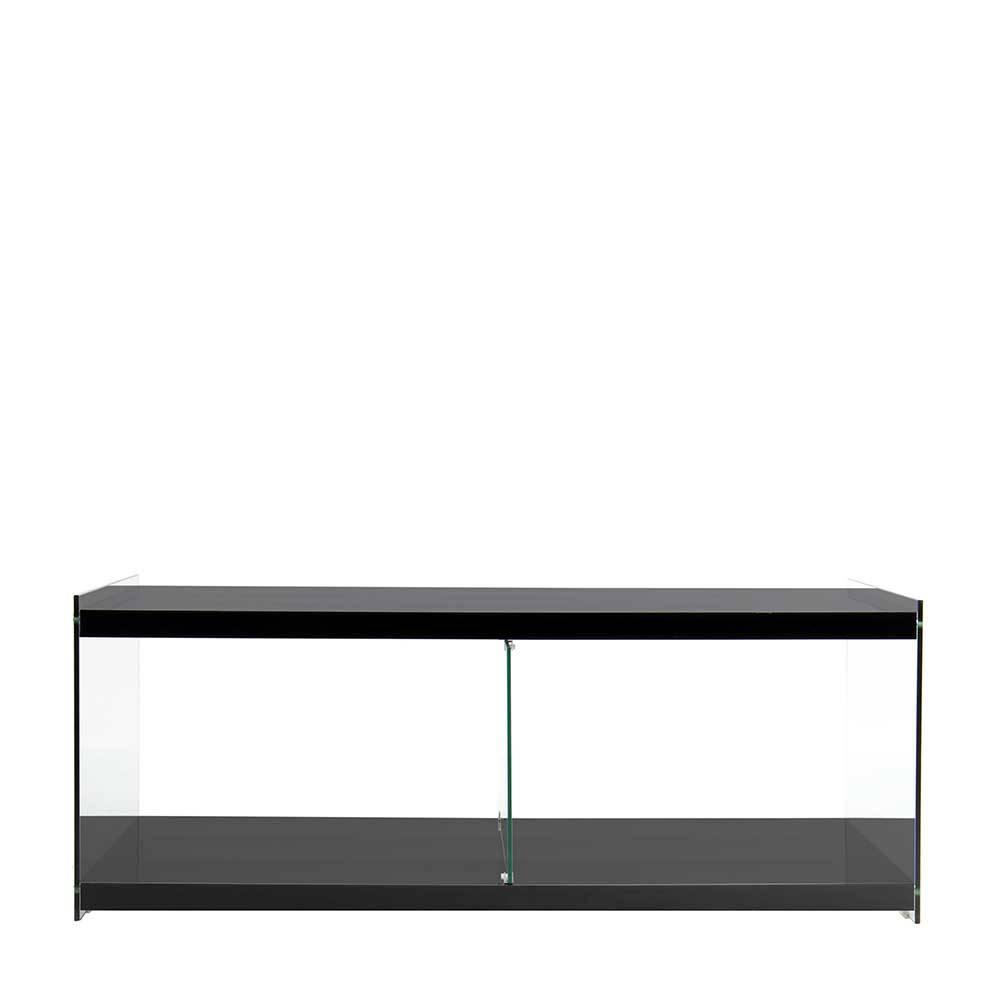 TV Möbel in Schwarz aus MDF Glas