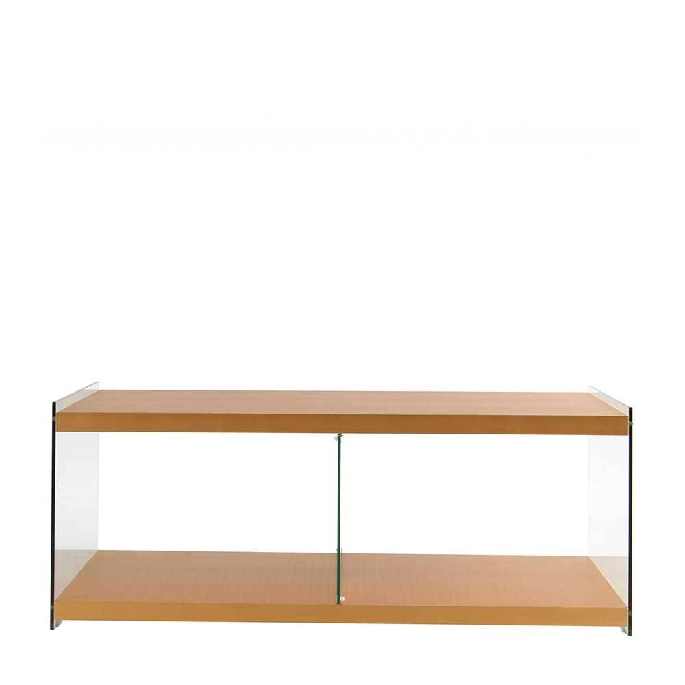 TV Möbel in Goldfarben 120 cm breit