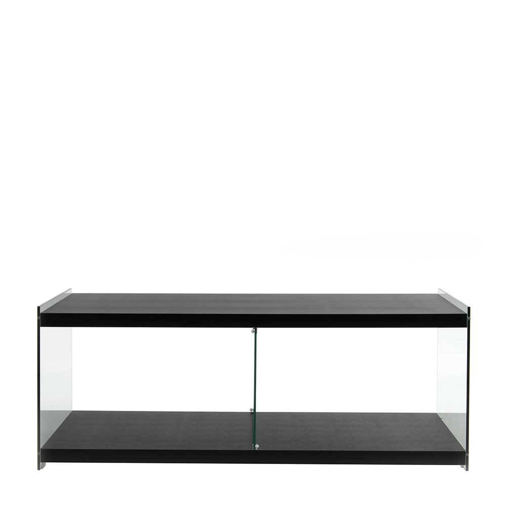 TV Lowboard in Schwarz 45 cm hoch