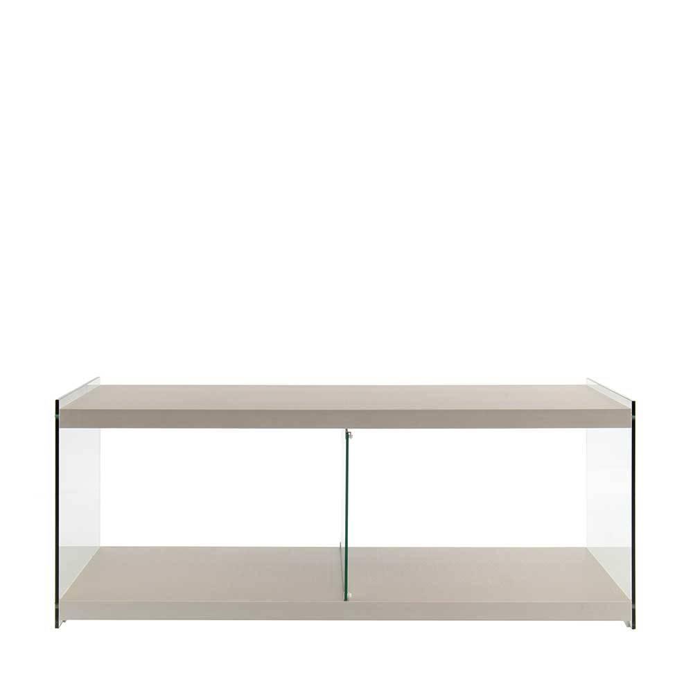 TV Sideboard in Silberfarben 120 cm breit