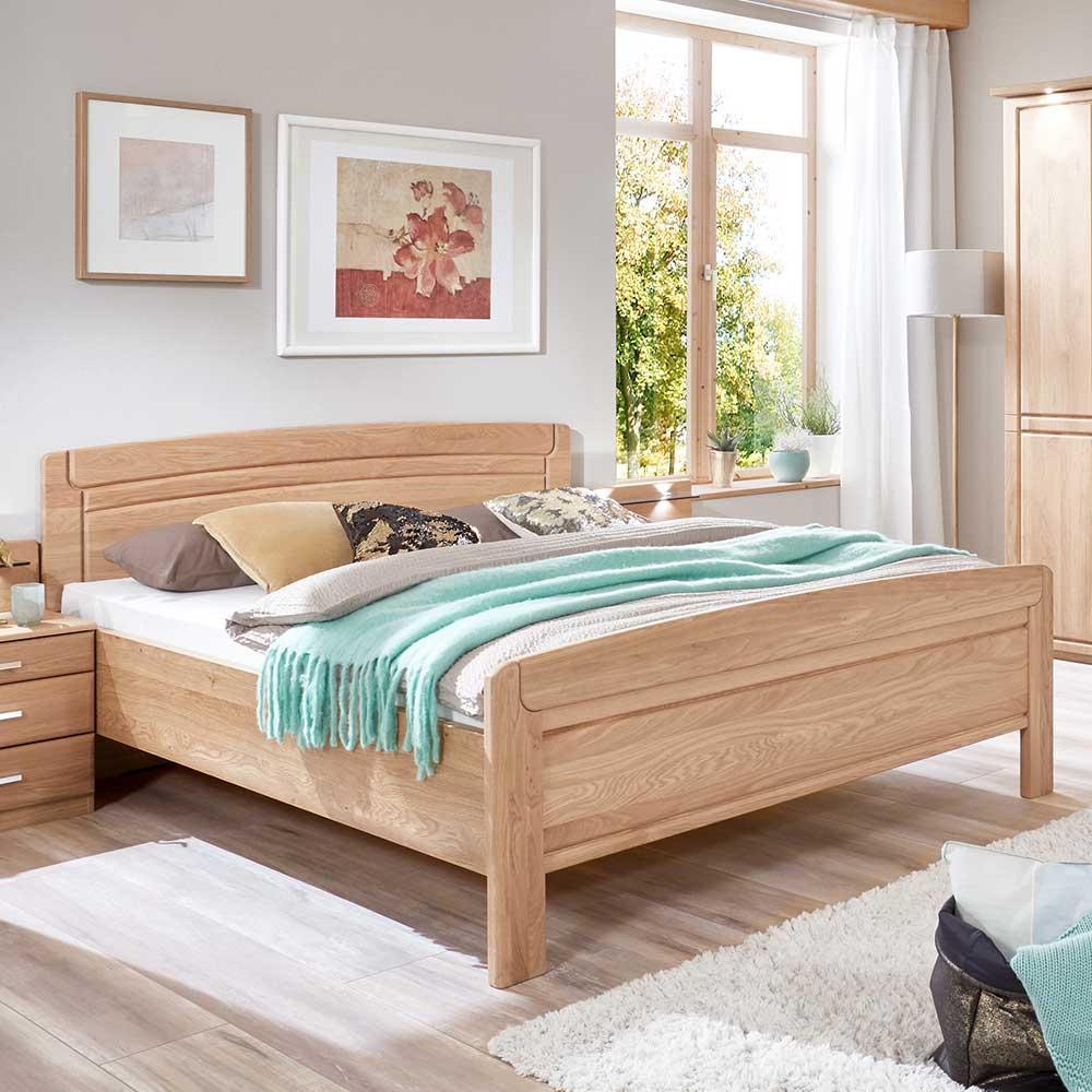 Doppelbett aus Eiche teilmassiv 180x190 cm