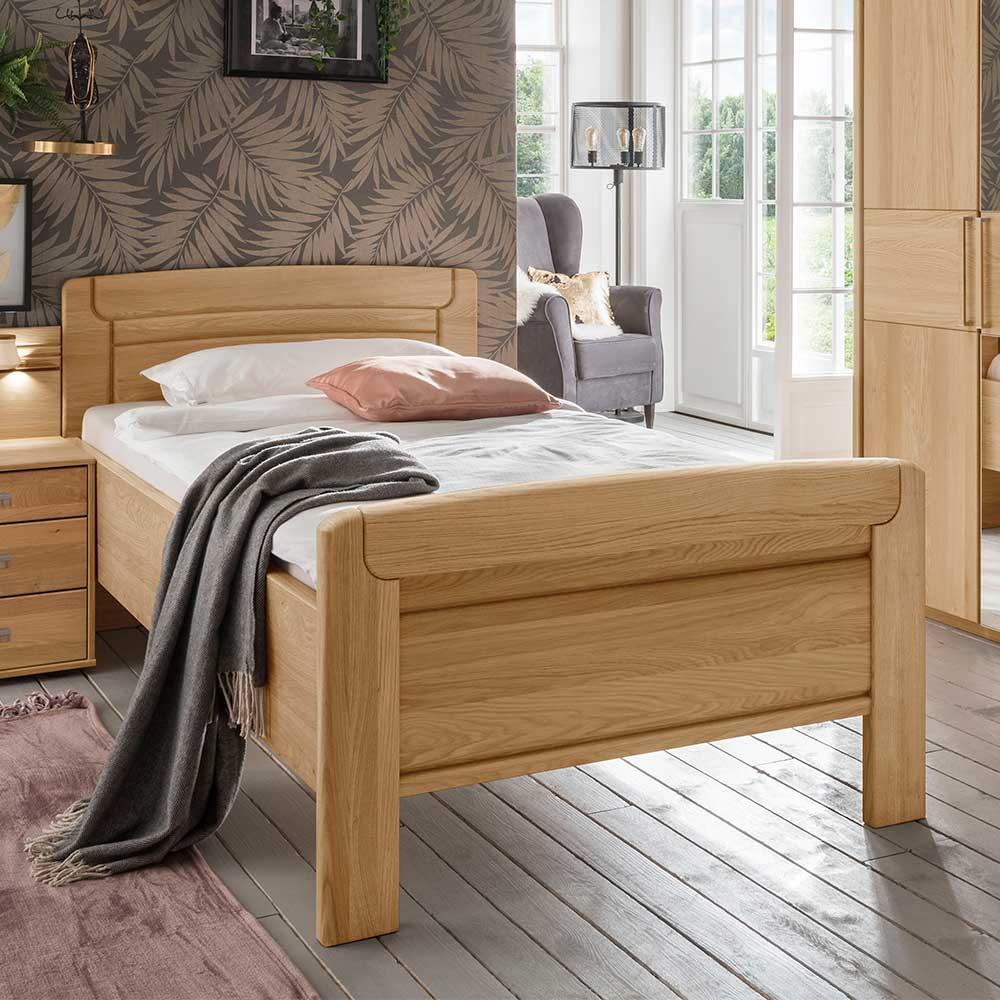 Komfortbett aus Eiche teilmassiv Made in Germany