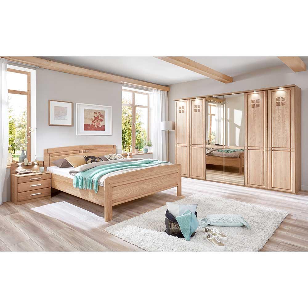 Schlafzimmerset aus Eiche teilmassiv Made in Germany (vierteilig)