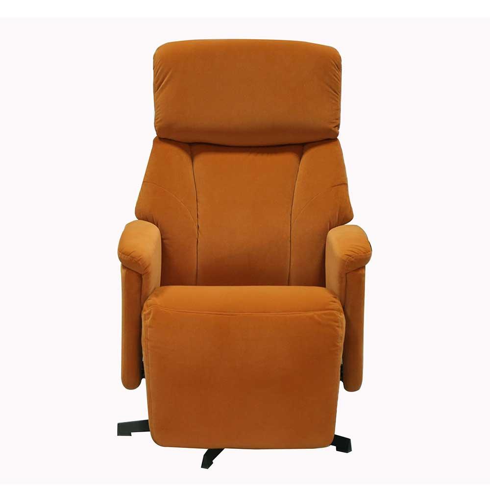Relaxsessel in Orange und Schwarz drehbar