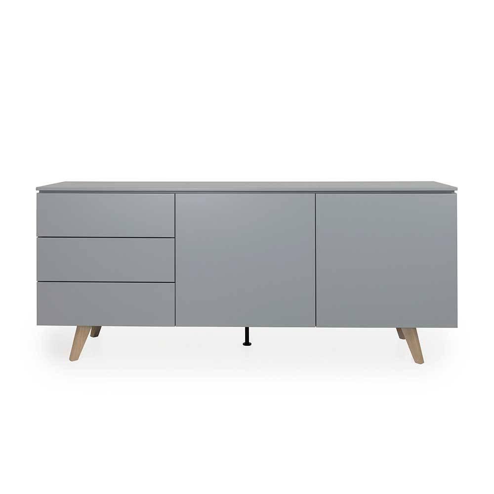 Schlafzimmer Sideboard in Grau und Eiche 180 cm breit