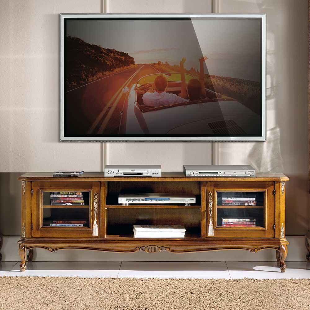 TV Möbel in Nussbaumfarben 150 cm breit