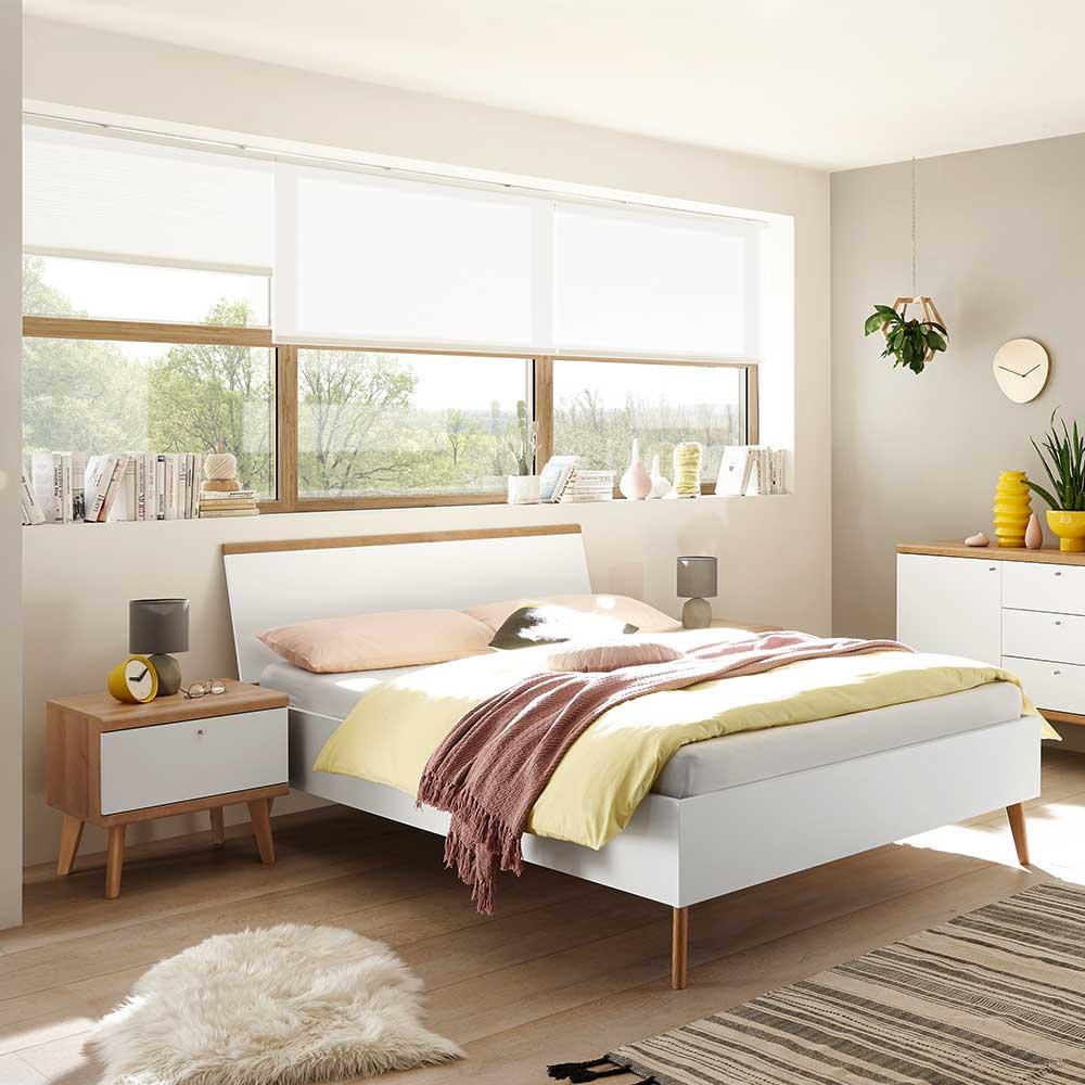 Komfortbett im Skandi Design Nachtkonsolen (dreiteilig)