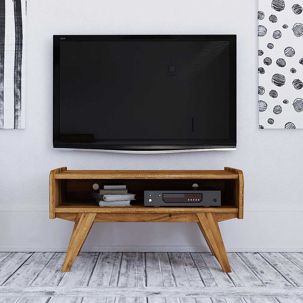 TV Möbel aus Wildeiche Massivholz Retrostil