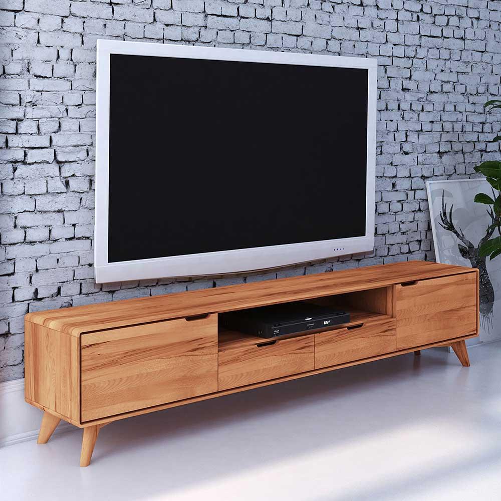 TV Lowboard aus Kernbuche Massivholz 220 cm breit
