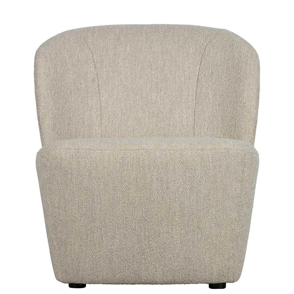 Retro Sessel in Beige 75 cm hoch