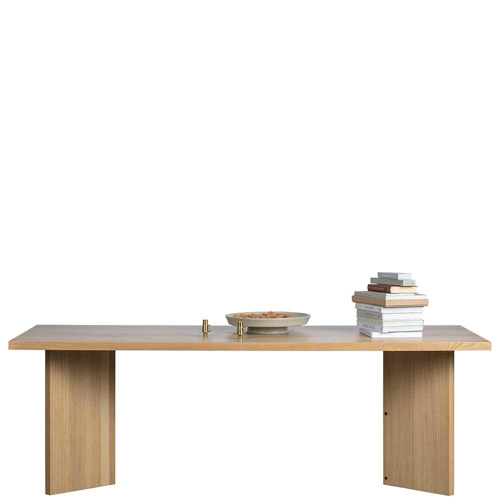 Esstisch mit Eiche furniert 220 cm breit