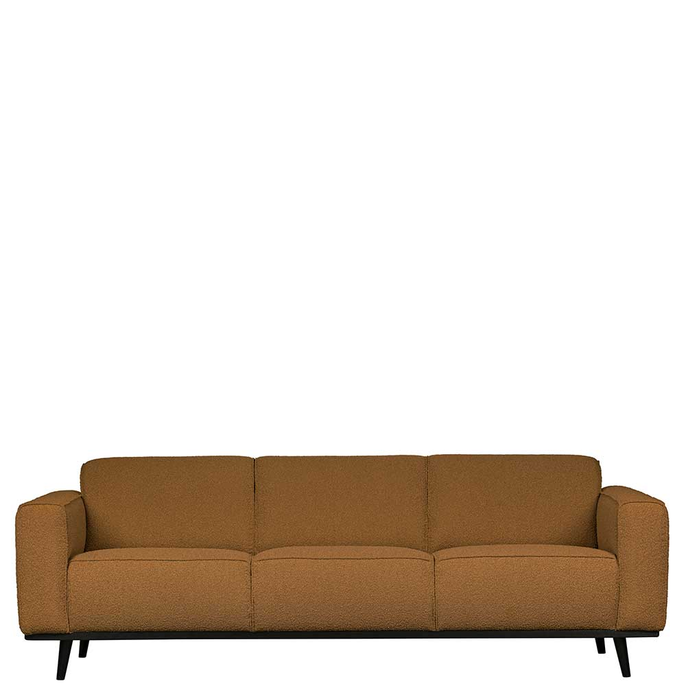 Dreisitzer Sofa in Bernsteinfarben Stoff Armlehnen