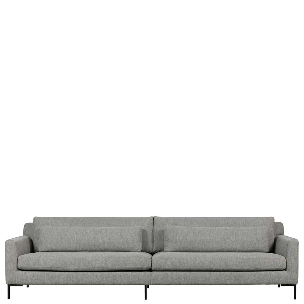 Wohnzimmer Sofa in Hellgrau Stoff modern