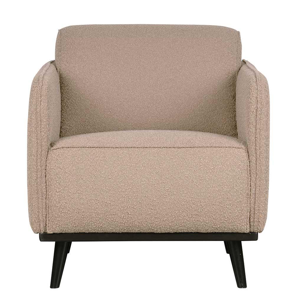 Sessel in Beige Stoff Federkern