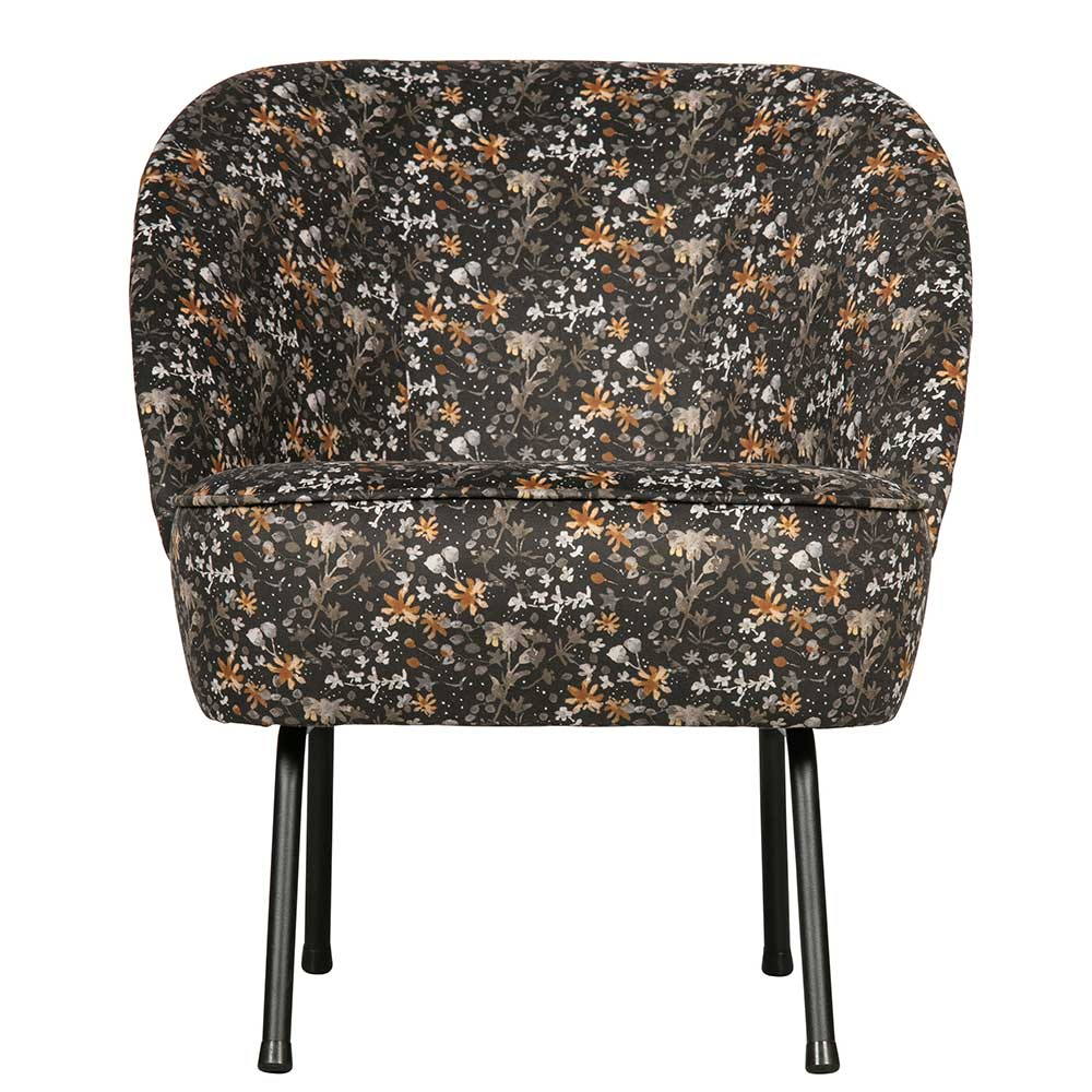 Retro Sessel floral gemustert Samtbezug