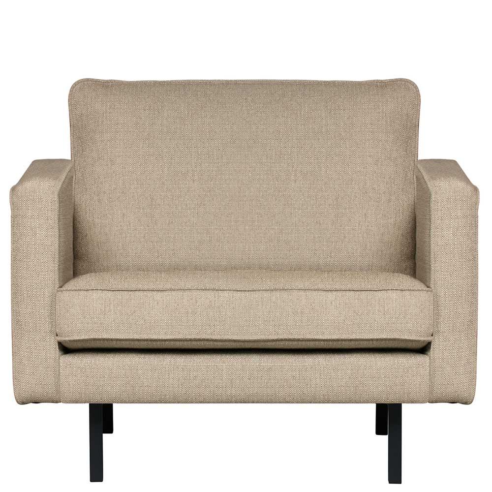 Retro Sessel in Beigegrau Webstoff 105 cm breit