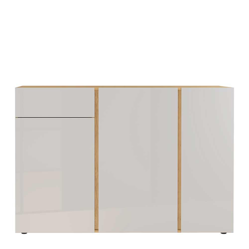 Sideboard in Hellgrau und Wildeiche Optik 150 cm breit