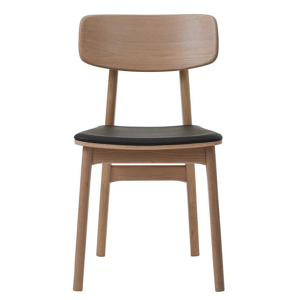 Esstisch Stühle in Eiche Bianco massiv Skandi Design (2er Set)