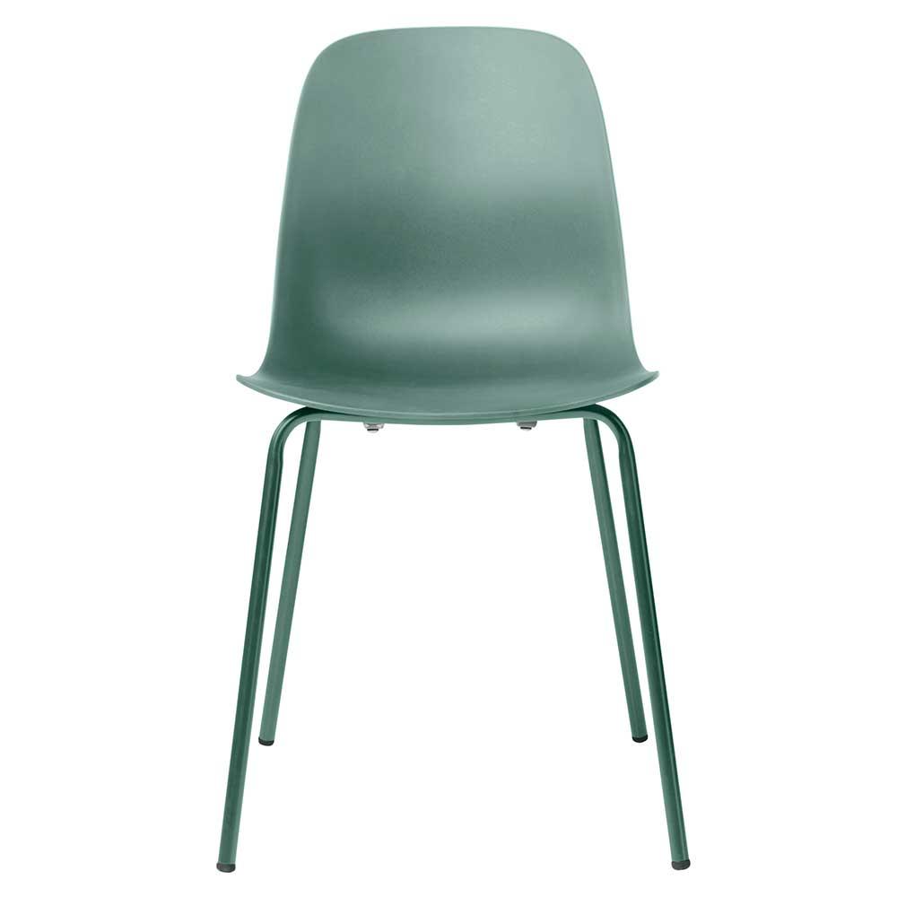 Esstisch Stühle in Mintgrün Kunststoff (4er Set)