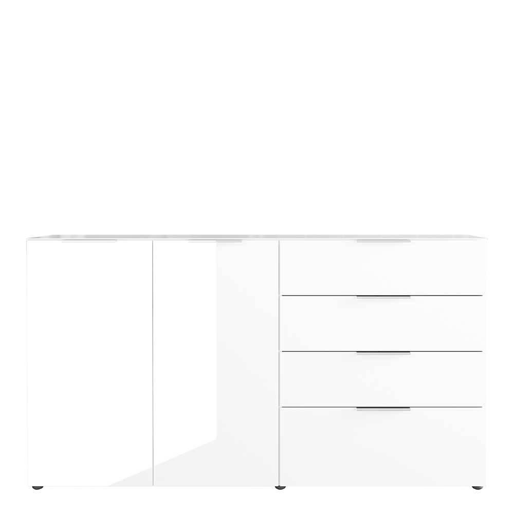 Sideboard in Weiß Glas beschichtet Made in Germany