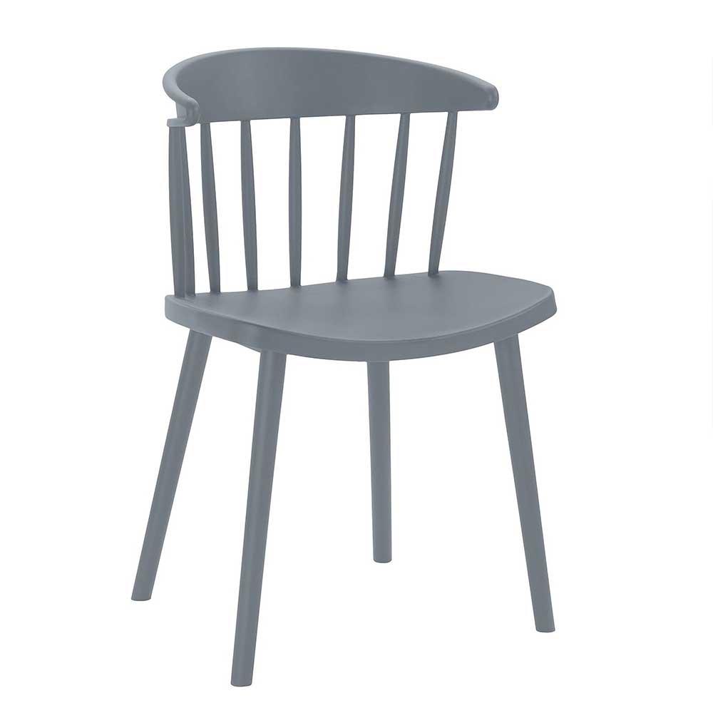 Esstisch Stühle in Grau Skandi Design (Set)