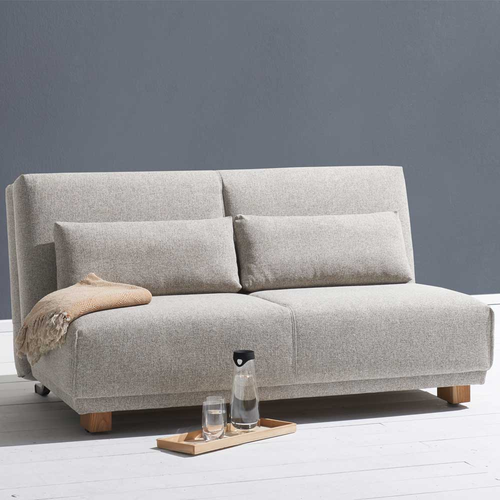 Funktionssofa in Beige Stoff Made in Germany