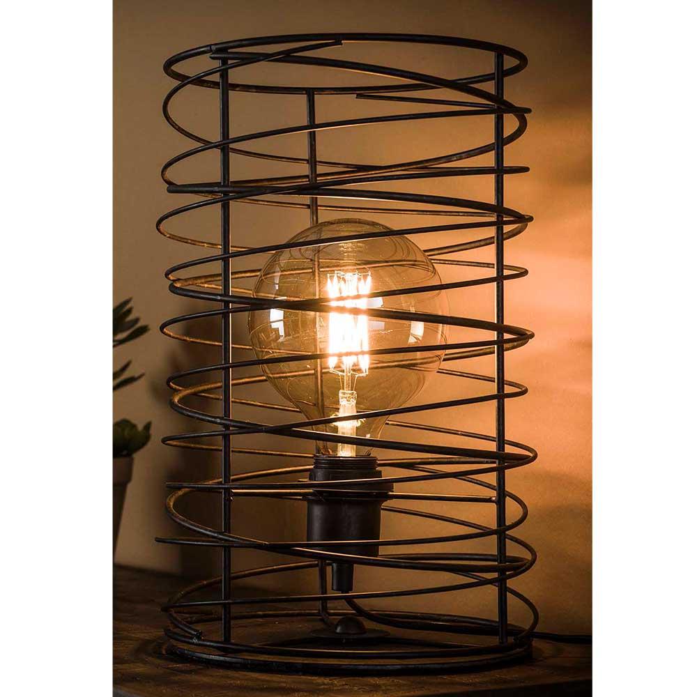 Design Tischleuchte in Dunkelgrau Industriedesign