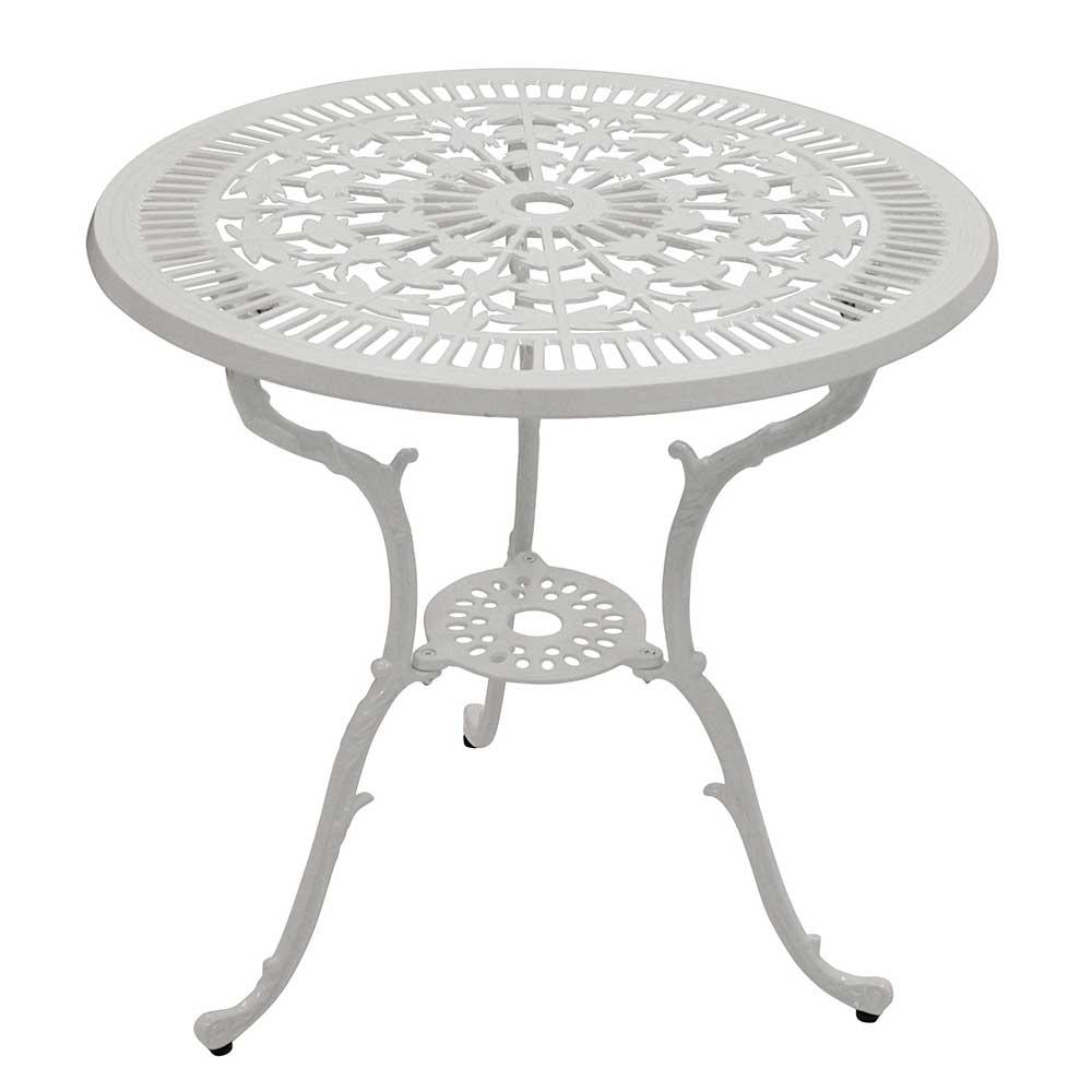 Gartentisch aus Aluminium Weiß