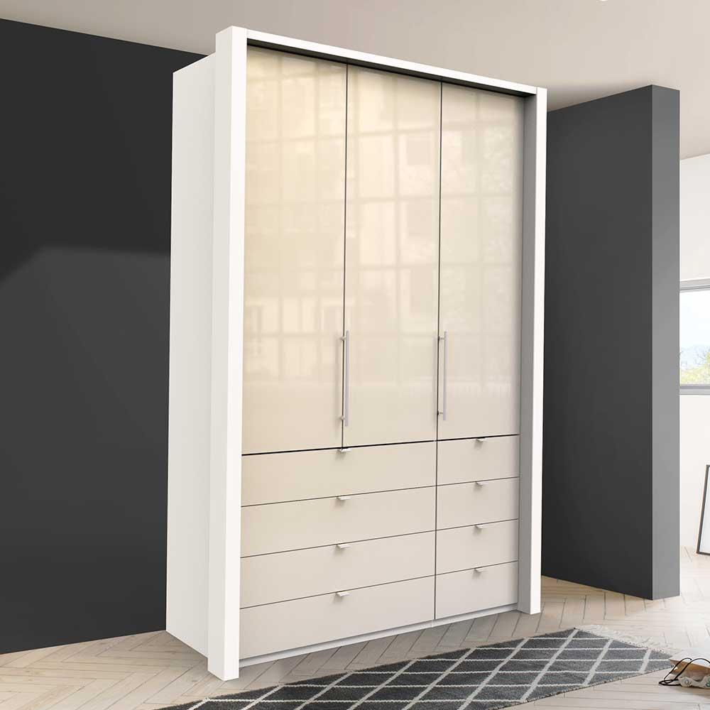Jugend Kleiderschrank mit Falttüren acht Schubladen