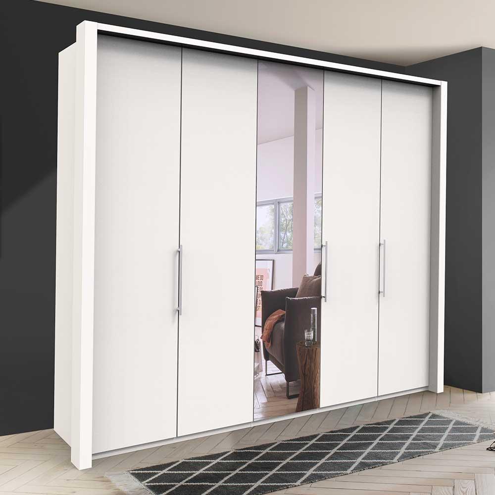 Großer Kleiderschrank in Weiß Falttüren